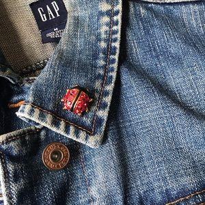Vintage Goldtone Red Ladybug Pin Brooch